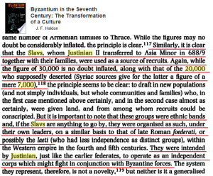 Justinian 688 AD 30k Slavs