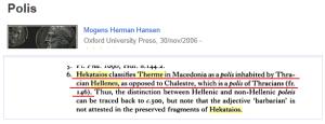 Hekataios Thracian Hellenes